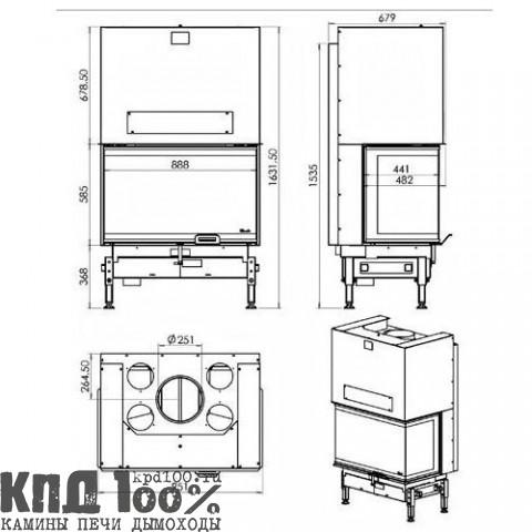 Топка DESIGN D1000 3V